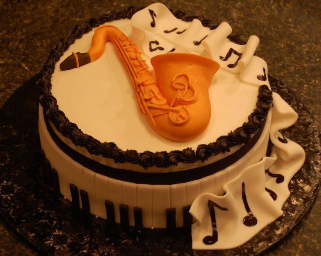 Birthday Cake Guitar Design With Name