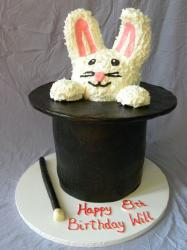 Magician Rabbit in a Hat birthday cake.JPG