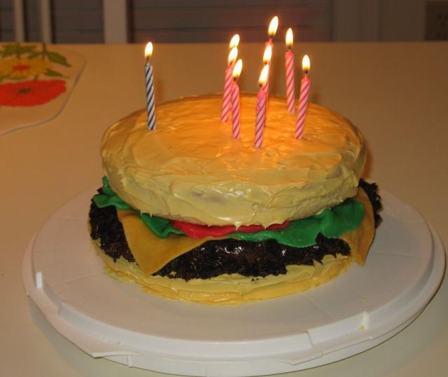 Cheeseburger Birthday Cake With Candlesg Hi Res 720p Hd