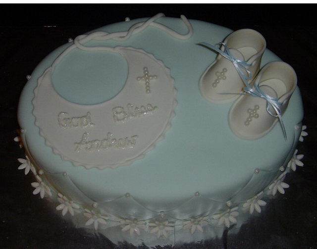 Cute booties christening cake ideas and designs - Baby baptism cake ideas ...