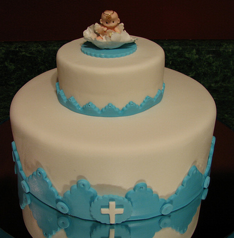 Two tiers boy baptism cake with baby cake topper.PNG