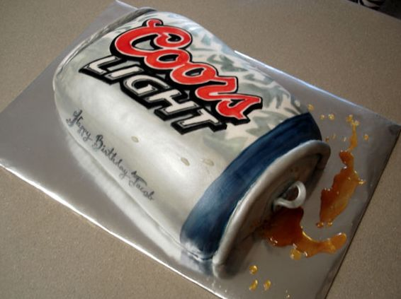 Amazing Coors Light Beer Can Birthday Cake Jpg 2 Comments Funny Birthday Cards Online Alyptdamsfinfo