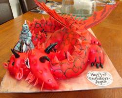 Red Dragon birthday cake.JPG