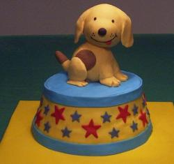 Cute Puppy cake with tongue sticking out.JPG