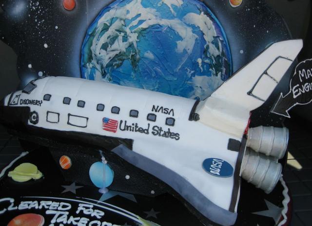 Wondrous Space Shuttle Birthday Cake Jpg Hi Res 720P Hd Personalised Birthday Cards Vishlily Jamesorg