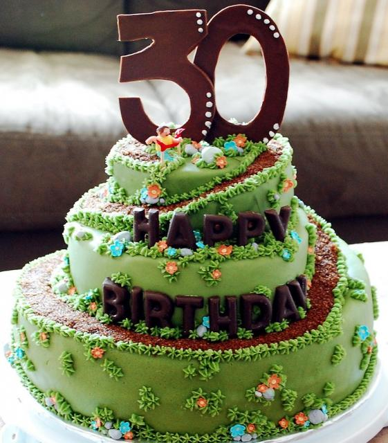 Top of the Hill Green 30th birthday cake.JPG