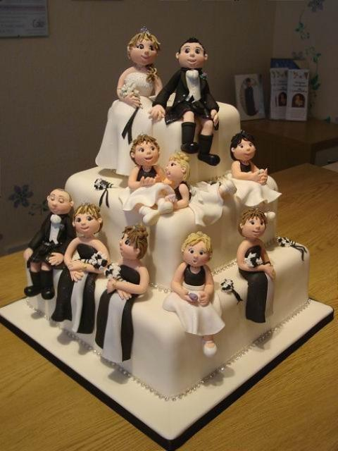 Wedding Cake With Human Figures 2 Comments