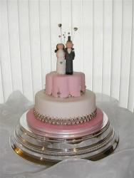 1 and 2 Tier Cakes with bride and groom