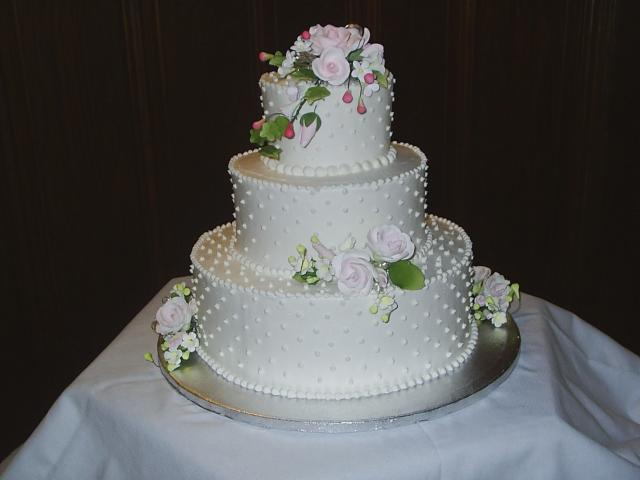 Wedding Cakes In Three Tiers With Flowers Pic Hi Res 1080p HD