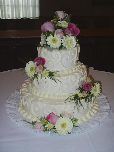 Round Wedding Cakes With Colorful Flowers Pic Hi Res 1080p Hd