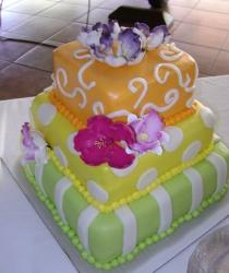 Three tier tropical theme bridal shower cake.JPG