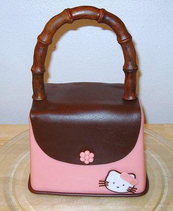 hello kitty purse. Pink Hello Kitty Handbag cake.