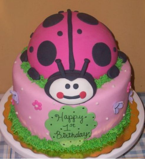 Stupendous Pink Ladybug First Birthday Cake Jpg 2 Comments Personalised Birthday Cards Sponlily Jamesorg