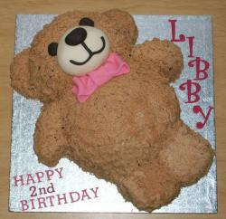 Teddy bear birthday cake for two year old.JPG