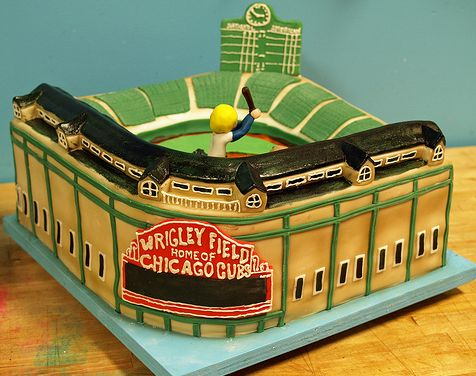 Chicago Cubs Wrigley Field Cake.JPG