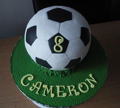 Soccer Ball Aka Football Birthday Cake In Other Countries