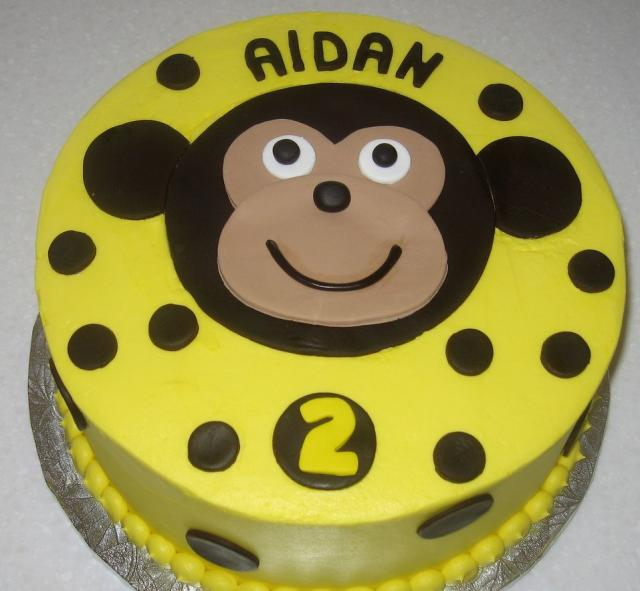 birthday cake cartoon images. Yellow round irthday cake