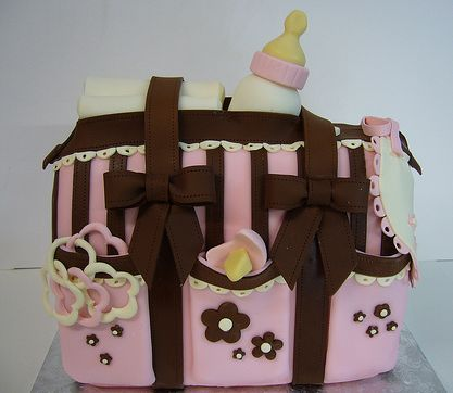 Pink diaper bag baby shower cake for girl.JPG (1 comment)