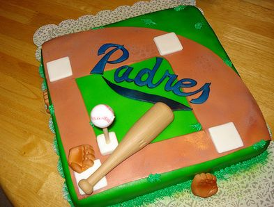 Remarkable San Diego Padres Cake Jpg Personalised Birthday Cards Veneteletsinfo