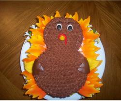 Thanksgiving Turkey chocolate cake photos.JPG