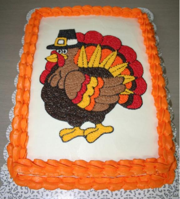 Bright color Thanksgiving Turkey cake for party.JPG Hi-Res 720p HD