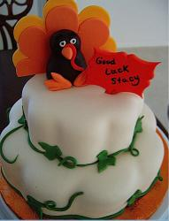 Colorful Thanksgiving Turkey cake looking so cutre.JPG