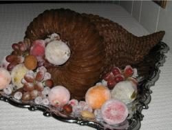 Cornucopia cake for thanksgiving party.JPG