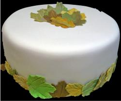 Green and light brown Fall Leaves Cake.JPG
