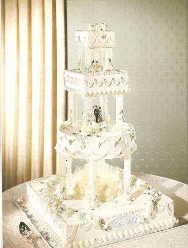 wilton fountain wedding cakes