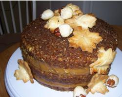 Pecan Pie Cake photo_decorated thanksgiving cakes.JPG
