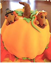 Pilgrim Pumpkin Cake in bright colors.JPG