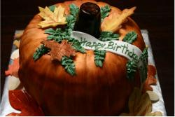 Pumpkin birthday cake decorating ideas.JPG