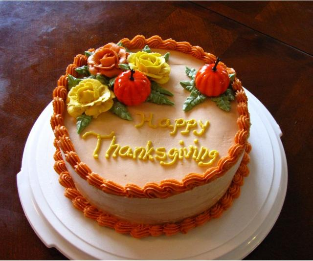 Thanksgiving Cake with roses_thanksgiving cake designs.JPG ...