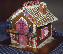 Christmas Gingerbread house cake in full colors.JPG
