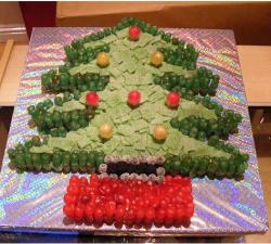 Christmas cake pictures gallery p 6 for Red and yellow christmas tree