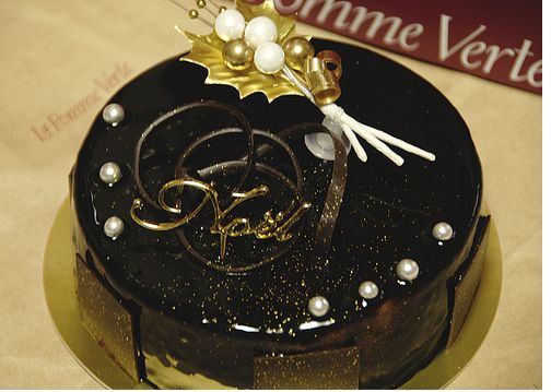 Dark Chocolate Christmas Cake Image Jpg 1 Comment
