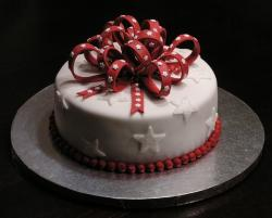 Star-studded a Christmas Cake.JPG