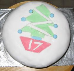 Christmas cake for birday.JPG