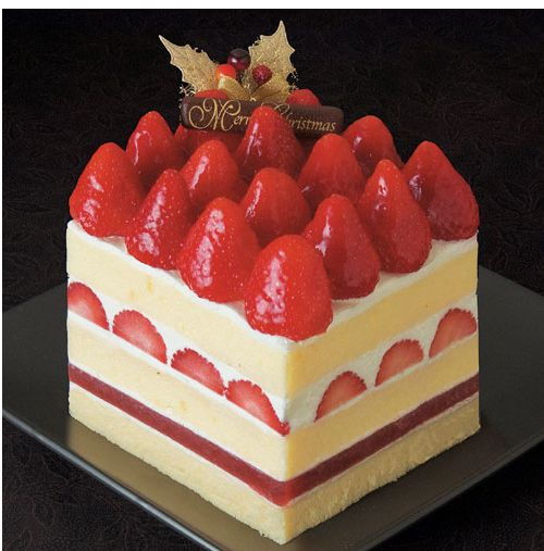 Christmas Cake Filling Ideas : Christmas cake with full of strawberries.JPG (2 comments)