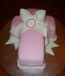 Jesus cross shaped christening cake.JPG