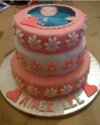 Picture of personalised christening cake.JPG