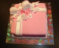 Pretty Christening Cake in pink.JPG