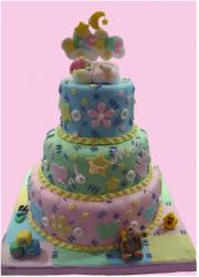 Three tier colorful Christening Cake.JPG