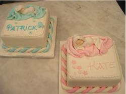 Baby christening cakes for boys and girls.JPG
