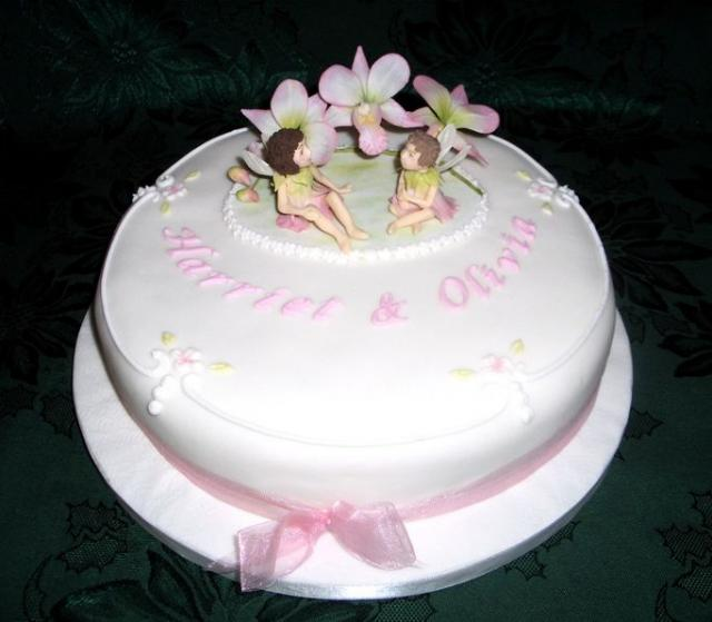 Cake Decorations For Christening Cake : Christening cake decoration with fairy.JPG