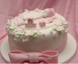 Christening Cake in light pink.JPG