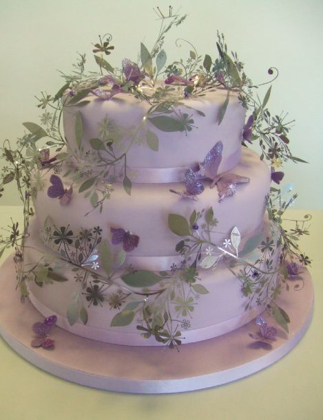 lilac wedding cake in 3 tiers jpg  1 comment