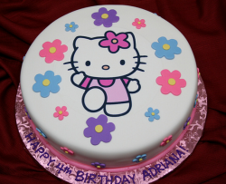 Hello kitty with full of floral cake decor.PNG