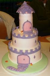 Princess castle tower cake.JPG