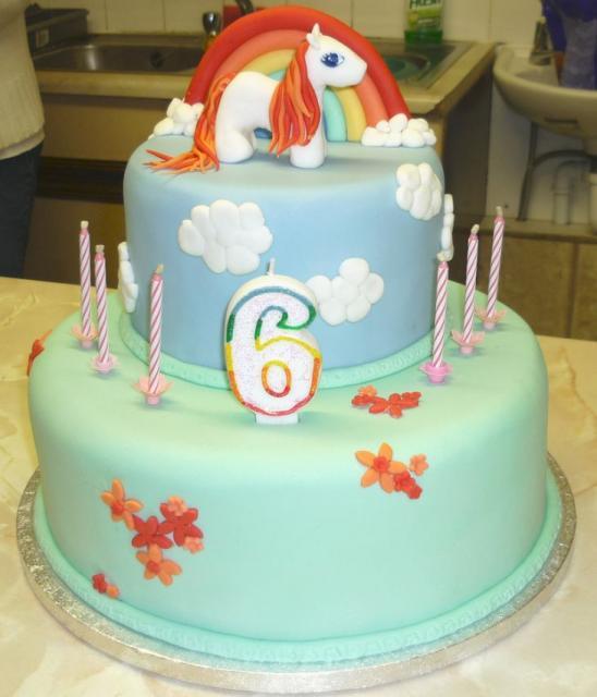 Outstanding Girls 6Th Birthday Cake With Pony And Rainbow Jpg Hi Res 720P Hd Personalised Birthday Cards Veneteletsinfo